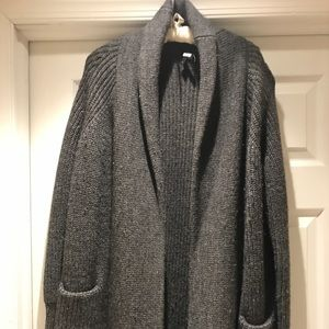 J.crew wool alpaca blend long cardigan sweater